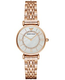 Women's Rose Gold-Tone Stainless Steel Bracelet Watch 32mm AR1909