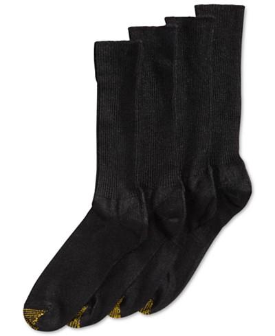 Gold Toe Men's Socks, ADC Acrylic Fluffies 3 Pairs Crew Casual Socks + 1 Pair