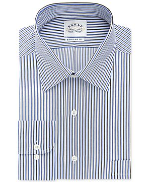 Eagle Non-Iron Sapphire Stripe Dress Shirt