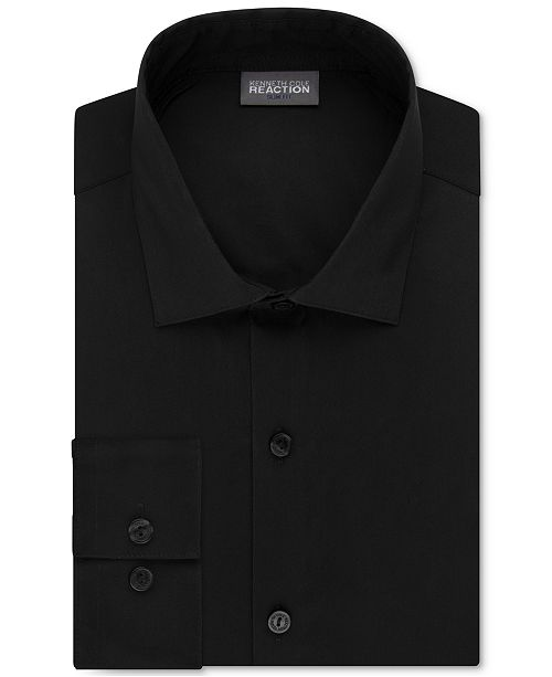 Kenneth Cole Reaction Slim Fit Techni Flex Collar Solid Dress Shirt