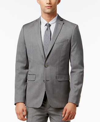 Bar III Light Grey Extra Slim-Fit Jacket - Suits & Suit Separates ...