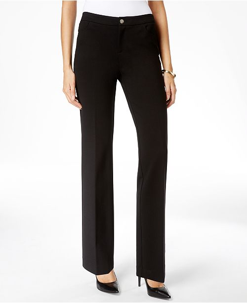 5be1c754450 Anne Klein Straight-Leg Trousers   Reviews - Pants   Capris - Women ...