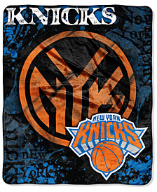 Northwest Company New York Knicks Raschel Shadow Blanket