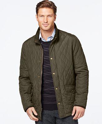 London Fog Diamond Quilted Coat - Coats & Jackets - Men - Macy's