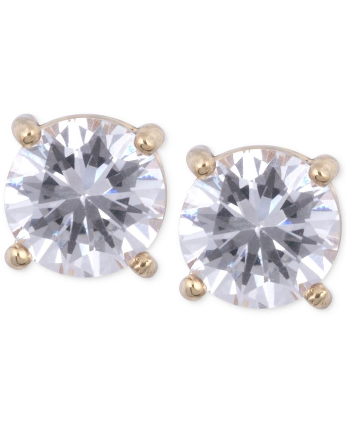 Anne Klein - Gold-Tone Crystal Stud Earrings