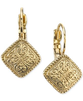 Image of 2028 Filigree Pattern Drop Earrings, a Macy's Exclusive Style