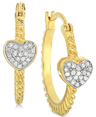 Small Diamond Hoop Earrings Macy S