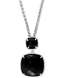 Black onyx necklace shop for and buy black onyx necklace online effy black onyx 14 45 ct tw pendant necklace in aloadofball Choice Image