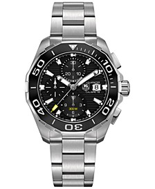Men's Swiss Automatic Chronograph Aquaracer Calibre 16 Stainless Steel Bracelet Watch 43mm