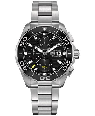 TAG Heuer Men's Swiss Automatic Chronograph Aquaracer Calibre 16 Stainless Steel Bracelet Watch 43mm...