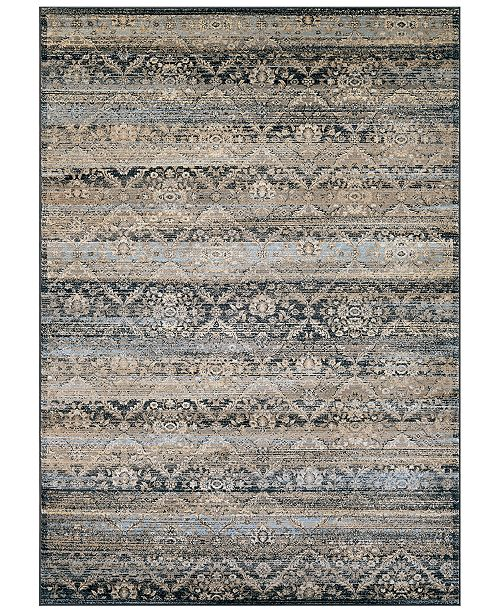 "Couristan CLOSEOUT! HARAZ HAR466 Blue 9'2"" x 12'5"" Area Rug"