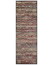 "CLOSEOUT! Couristan HARAZ HAR446 Red/Black 2'7"" x 7'10"" Runner Rug"