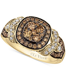 Le Vian Chocolatier® Framed clusters™ Diamond Ring (9/10 ct. t.w.) in 14k Gold