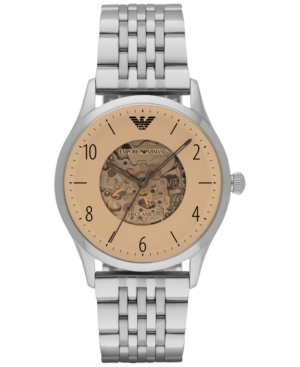 Emporio Armani Men's Automatic Beta Stainless Steel Bracelet Watch 41mm AR1922