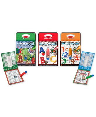 Melissa and Doug Kids' Water Wow Animals, Alphabet & Numbers Gift Set