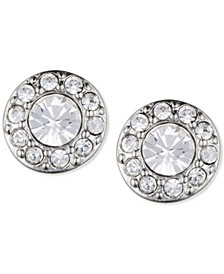 Small Crystal Pavé Stud Earrings