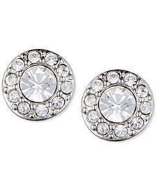 Givenchy Small Crystal Pavé Stud Earrings