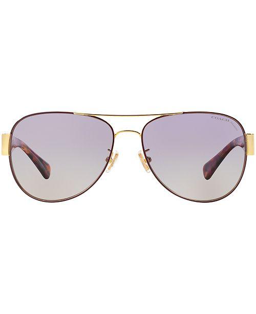 6121928228 COACH Polarized Sunglasses