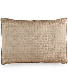 Hotel Collection Embroidered Frame Quilted Standard Sham, Created for Macy's
