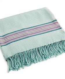 bluebellgray Welsh Stripe Wool Blend Throw