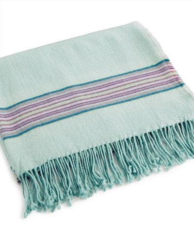 bluebellgray Welsh Stripe Wool Blend Throw