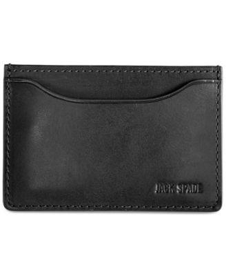 designer money clip card holder 0mho  Jack Spade Mitchell Leather Credit Card Holder
