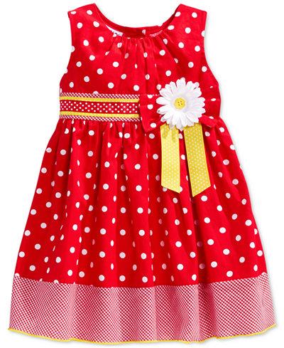 Blueberi Boulevard Baby Girls Red Amp White Dot Dress