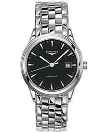 Longines Men's Swiss Automatic Flagship Stainless Steel Bracelet Watch 38mm L48744526