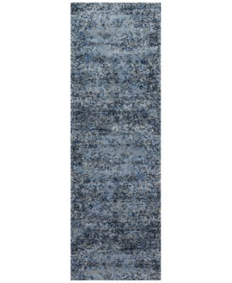 "Fusion Light Blue/Grey 2'5"" x 7'7"" Runner Rug"