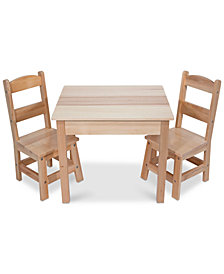 Melissa and Doug Wooden Table & Chairs Set