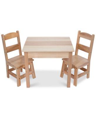 Beautiful Melissa And Doug Wooden Table U0026 Chairs Set