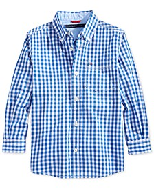 Gingham Buttondown Cotton Shirt, Big Boys