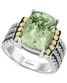 BALISSIMA by EFFY® Green Quartz (5-3/4 ct. t.w.) Ring in 18k Gold and Sterling Silver