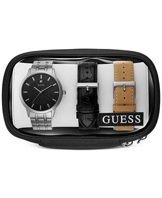GUESS Men's Stainless Steel Bracelet Watch &