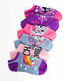 Little Girls 6-Pack No-Show Ankle Socks