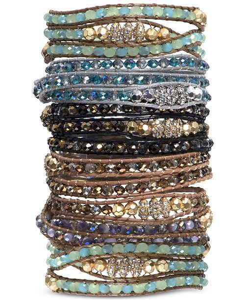 Crystal Or Gl Bead Wrap Bracelets