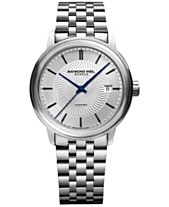 d3067918d RAYMOND WEIL Men's Swiss Automatic Maestro Stainless Steel Bracelet Watch  40mm 2237-ST-65001