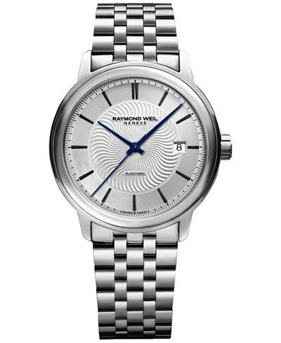 RAYMOND WEIL Men's Swiss Automatic Maestro Stainless Steel Bracelet Watch 40mm 2237-ST-65001
