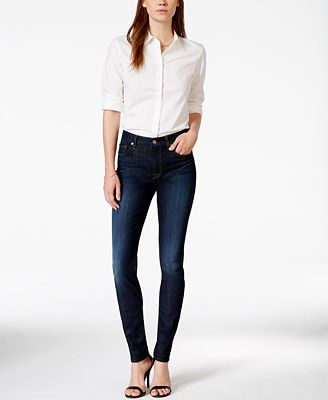 7 For All Mankind Ankle Skinny Dark Blue Wash Jeans
