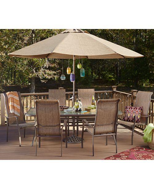 Furniture Closeout Oasis Outdoor Aluminum 11 Pc Dining Set 84 X