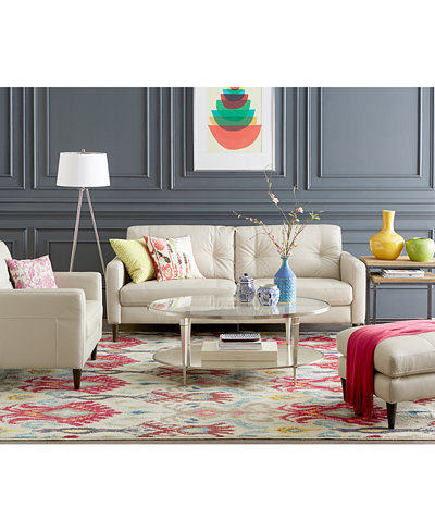 Keaton Leather Sofa Collection, Created for Macy\'s - Furniture ...