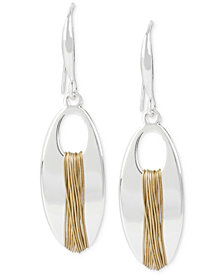 Robert Lee Morris Soho Two-Tone Wire-Wrapped Drop Earrings
