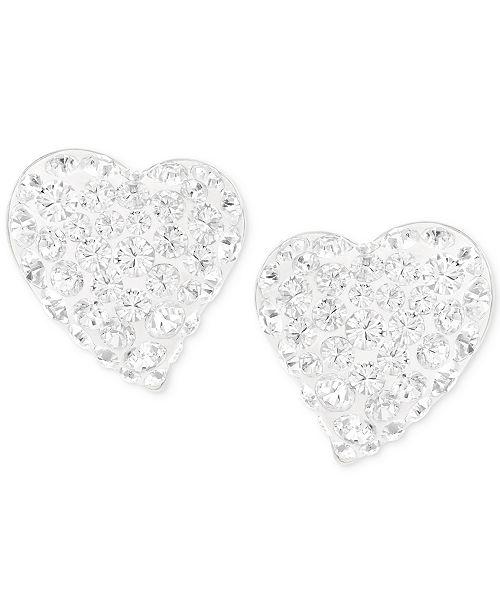 Swarovski Alana Silver Tone Clear Crystal Heart Stud