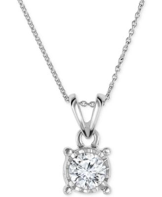 Trumiracle diamond pendant 18 necklace in 14k gold rose gold or trumiracle diamond pendant 18 necklace in 14k gold rose gold or white gold 12 ct tw necklaces jewelry watches macys aloadofball Images
