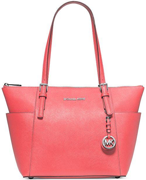 741f70da1414 Michael Kors Jet Set East West Top Zip Tote & Reviews - Handbags ...
