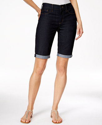 Nydj Briella Tummy Control Cuffed Denim Bermuda Shorts