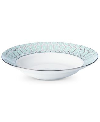 Brian Gluckstein by Clara Aqua Bone China Rim Soup Bowl
