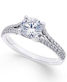 X3 Diamond Engagement Ring (1-1/3 ct. t.w.) in 18k White Gold, Created for Macy's
