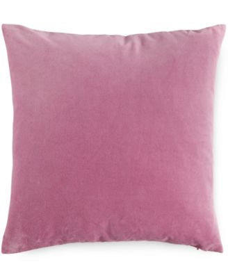 "Blush Velvet 16"" Square Decorative Pillow"