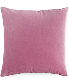 "bluebellgray Blush Velvet 16"" Square Decorative Pillow"